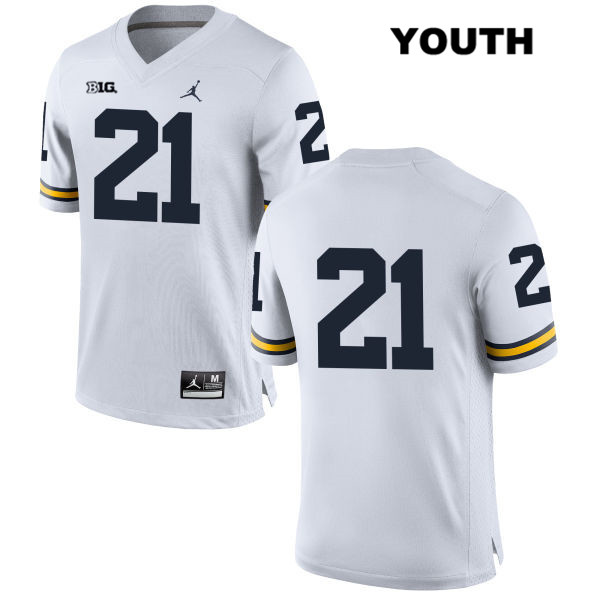 7514327fe Desmond Howard Michigan Wolverines Stitched no. 21 Youth Jordan White  Authentic College Football Jersey - No Name